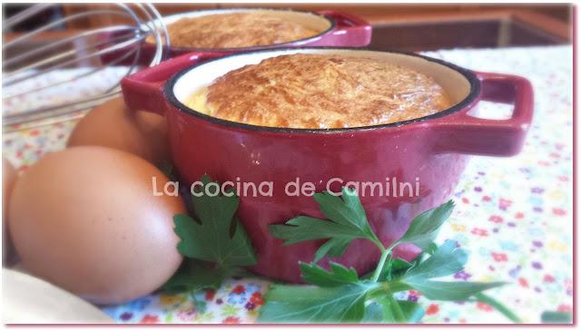 Souffle de salmón y queso (La cocina de Camilni)