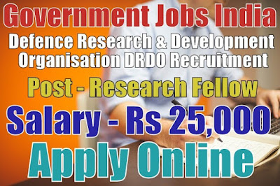 DRDO Recruitment 2017 for Junior Research Fellow Post
