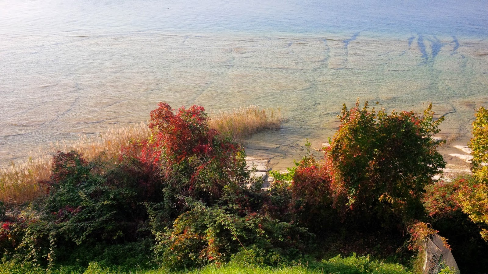 Lake Garda seen from Grotte di Catullo