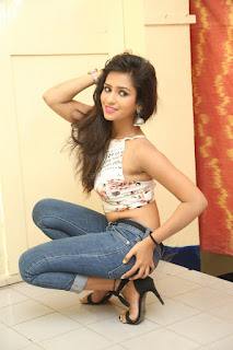 Deekshita Parvathi in a short crop top and Denim Jeans Spicy Pics Beautiful Actress Deekshita Parvathi January 2017 CelebxNext (135).JPG