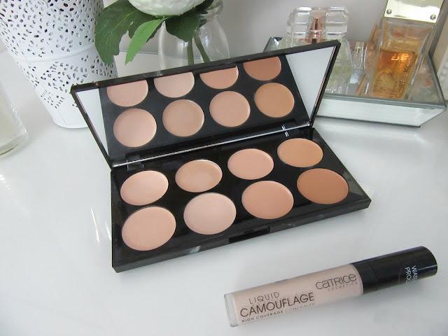 Makeup revolution concealer palette and catrice concealer