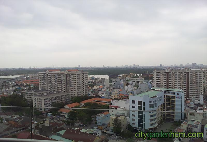 view thành phố tại bancon căn hộ CITY GARDEN