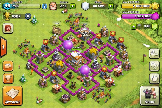 clash of clans: Ayuntamiento nivel 6
