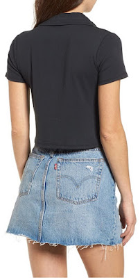Women's Cropped Polo Shirt