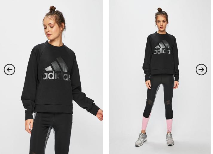 adidas Performance - Bluza dama originala neagra cu logo negru