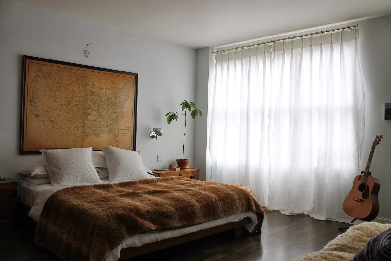 The Shingled House Master Bedroom Curtains