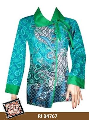 Model Baju Batik Kancing Samping Terbaru