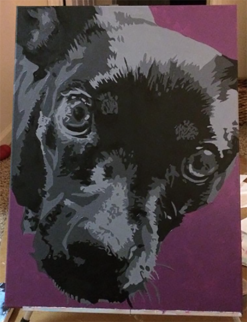 pet-portrait, pet-portraits, purple-and-black