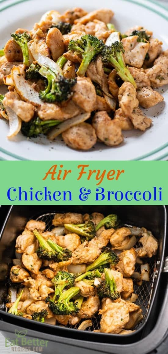 Air Fryer Chicken & Broccoli