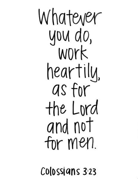 Edify, Encourage and Build: Working for the Lord