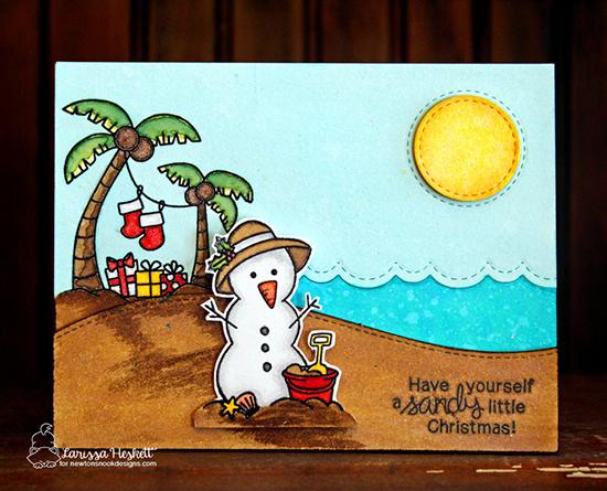 Sandy little Christmas card by Larissa Heskett | Sun Soaked Christmas Cards