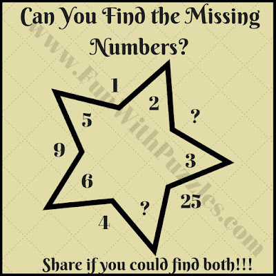 Math star picture brain teaser