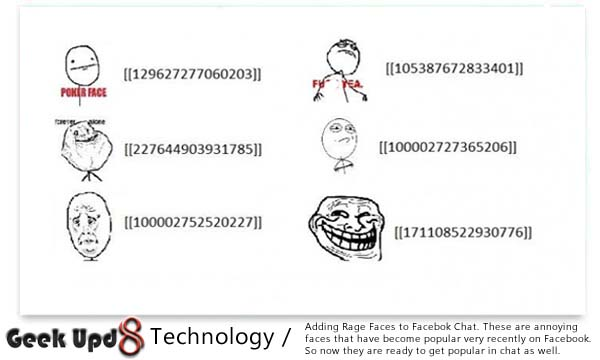 Have New Experience with Rage Faces in your Facebook Chat