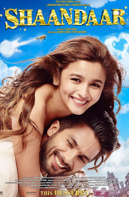 Shaandaar, Movie Poster, Directed by Vikas Bahl, starring Alia Bhatt, Shahid Kapoor