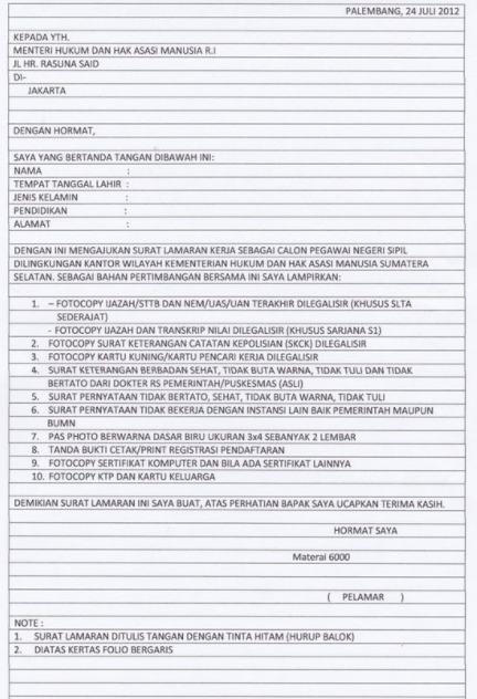 Contoh Surat Lamaran Kerja Guru Yang Menarik Dan Terbaik Contoh Surat Lamaran Kerja