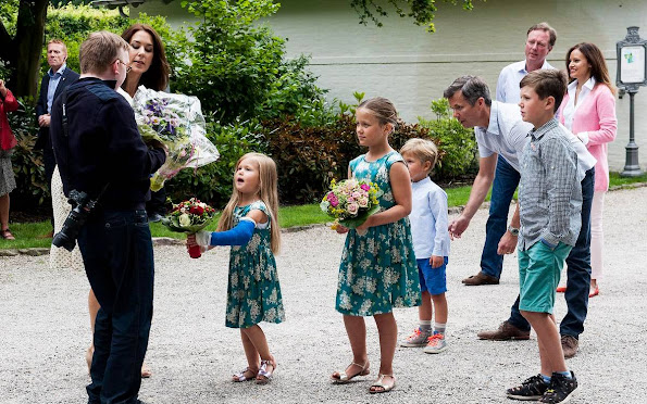 Prince Frederik, Princess Mary, Prince Christian, Princess Isabella, Prince Vincent, Princess Josephine at horse parade