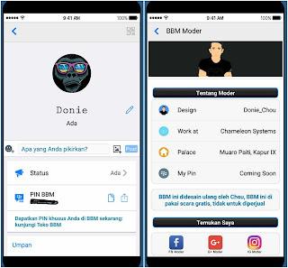 BBM Mod Like iOS v3.3.4.48 Apk
