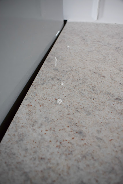removing and replacing a contact paper self adhesive vinyl counter top