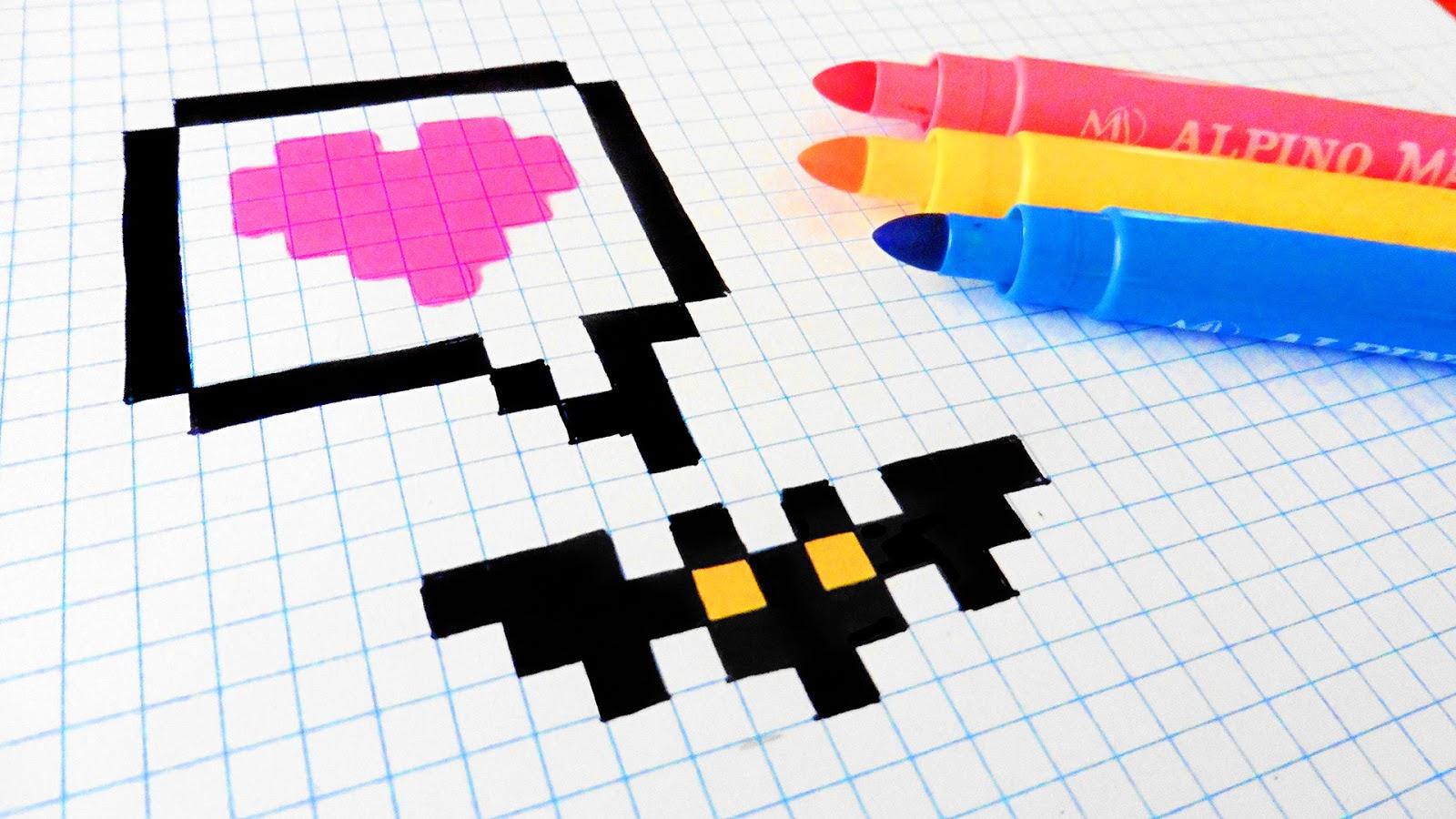 Halloween Pixel Art - How To Draw Little Bat #pixelart | Hello ...