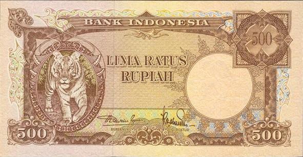 500 rupiah 1958 depan