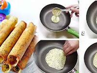 Mudahnya Membuat EGG ROLL Renyah Praktis Pakai Teflon Lebih Hemat Bisa Makan Sepuasnya