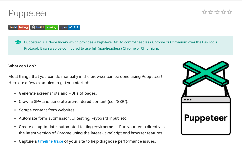 mocha and Google #puppeteer for #javascript and #html tests