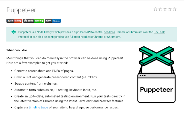 Puppeteer - headless chromium API