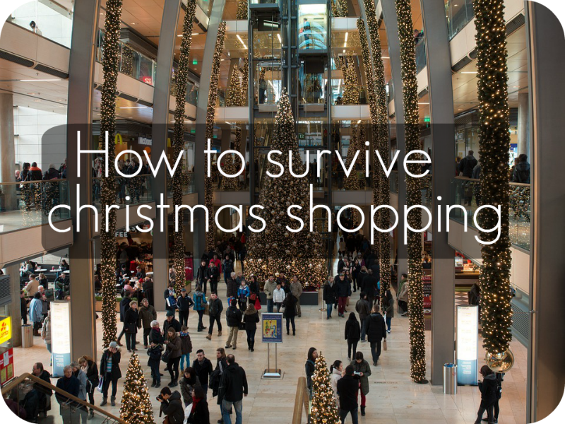 how to survive christmas shopping