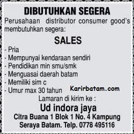 Lowongan Kerja PT. Indora Jaya