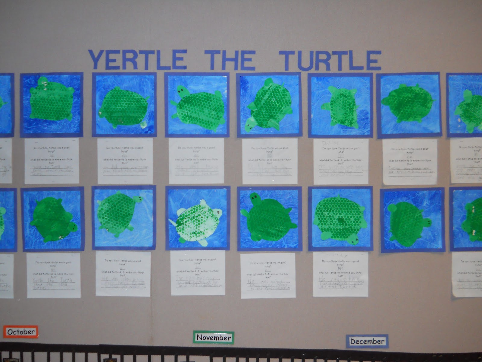Mrs T S First Grade Class Yertle The Turtle
