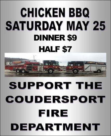 5-25 Chicken BBQ, Coudersport VFD