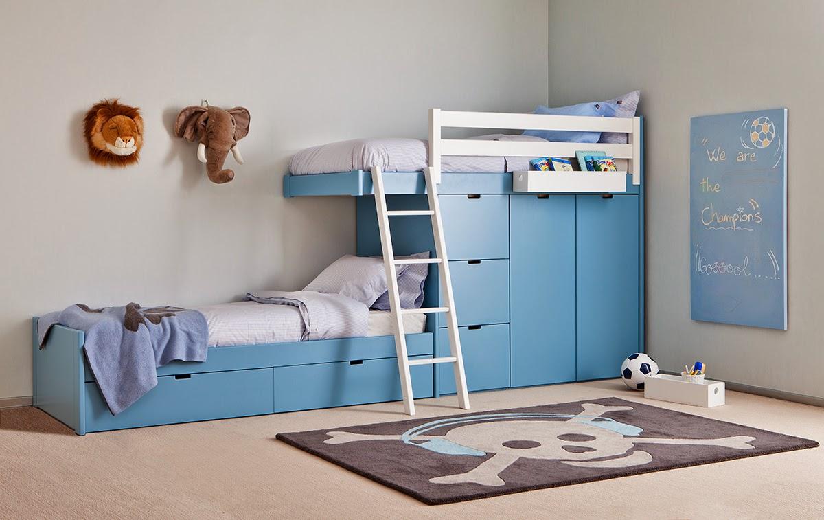 Dormitorios juveniles para dos hermanos - Habitaciones infantiles 2 camas ...