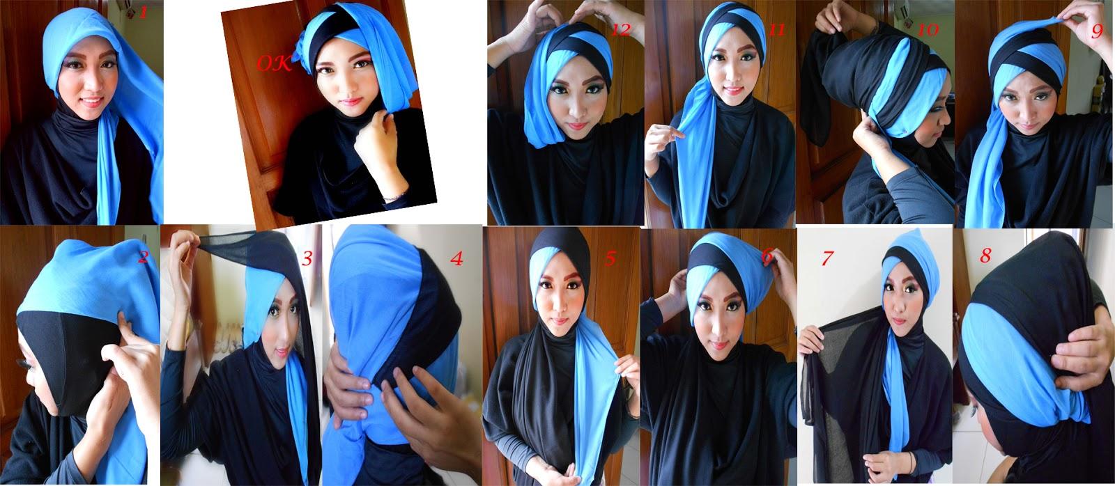 22 Galery Tutorial Kerudung Paris Formal Untuk Anda Tutorial Hijab