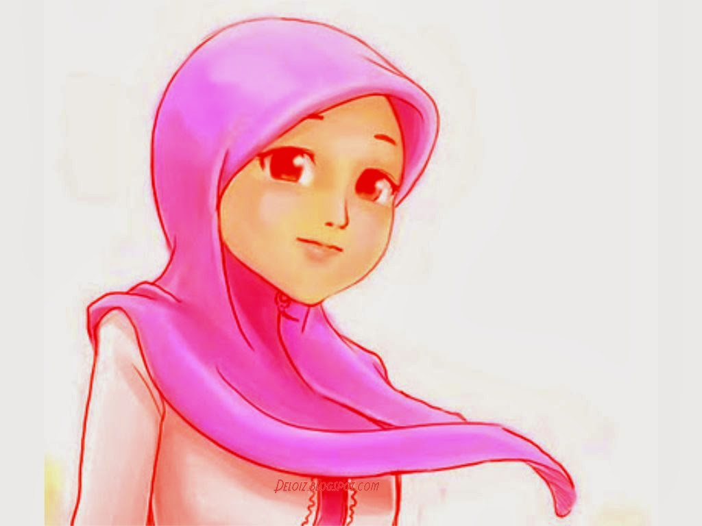 Wallpaper Kartun Muslimah Cantik Your Title