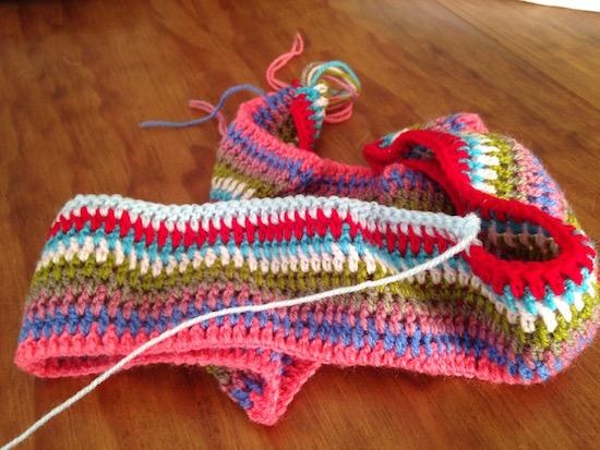 Un taller en la torre manta de ganchillo sencilla multicolor - Mantas lana ganchillo ...