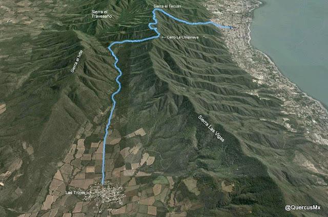 Ruta Las Trojes - C La Chupinaya - Sierra el Tecuán - Ajijic