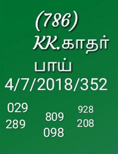 kerala lottery abc guessing akshaya ak-352 by KK on 04-07-2018