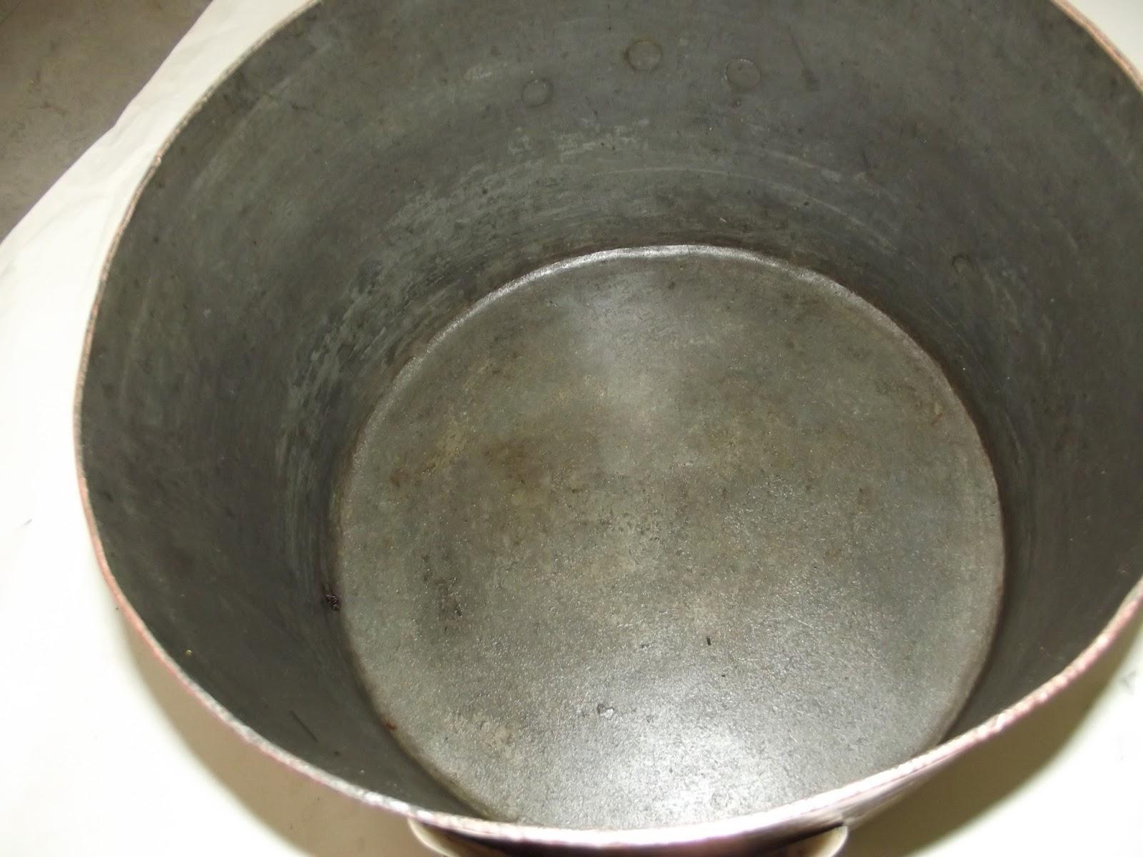 marmite casserole cuivre tam martel queue d 39 aronde poign es bronze ancien xix. Black Bedroom Furniture Sets. Home Design Ideas