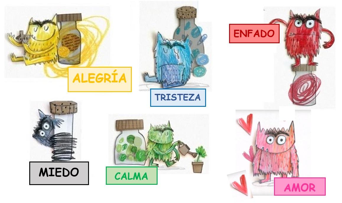 Dibujos Animados Texto Naranja: APRENDER ES DIVERTIDO 1º Y 2º: El Monstruo De Colores