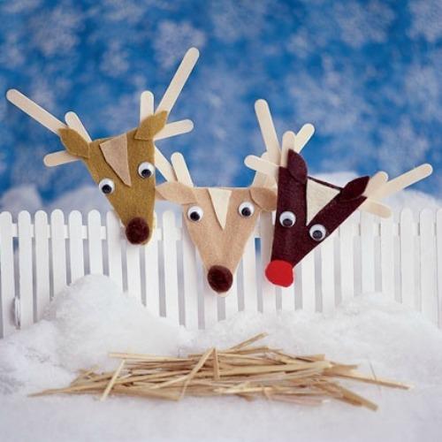 Manualidades Navideñas  con palitos de polo. (DIY)