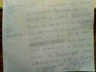 Jovem faz reunião em casa e recebe bilhete com ameaça de morte no Piauí