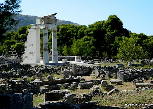 Sítio Arqueológico de Epidauros, Templo de Asclépio