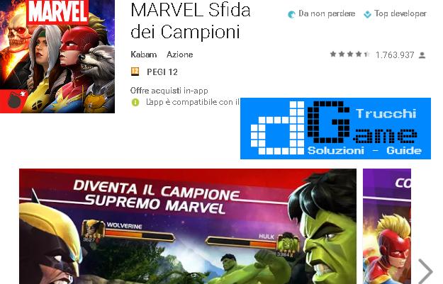 Trucchi Marvel Battle Mod Apk Android v.11.0.0