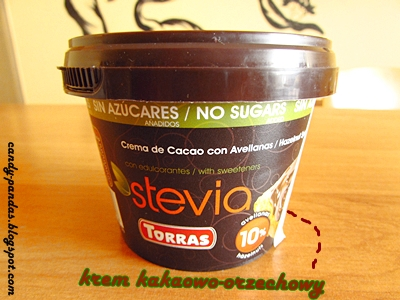Krem kakaowo-orzechowy słodzony maltitolem i stewią - Torras