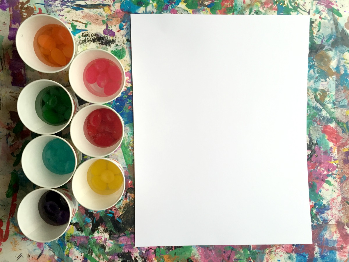 Mini Monets And Mommies Easter Jelly Bean Water Color Paints For Kids