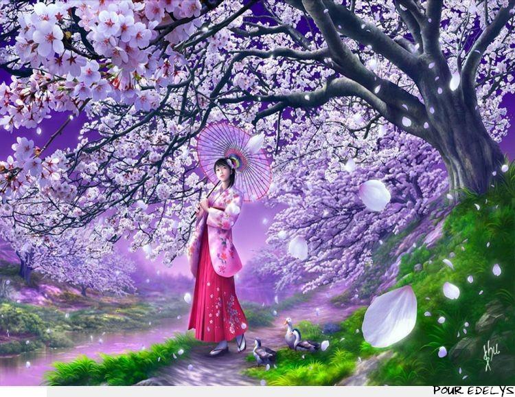 Chez Lilwenna Marque Page Fleurs De Cerisiers