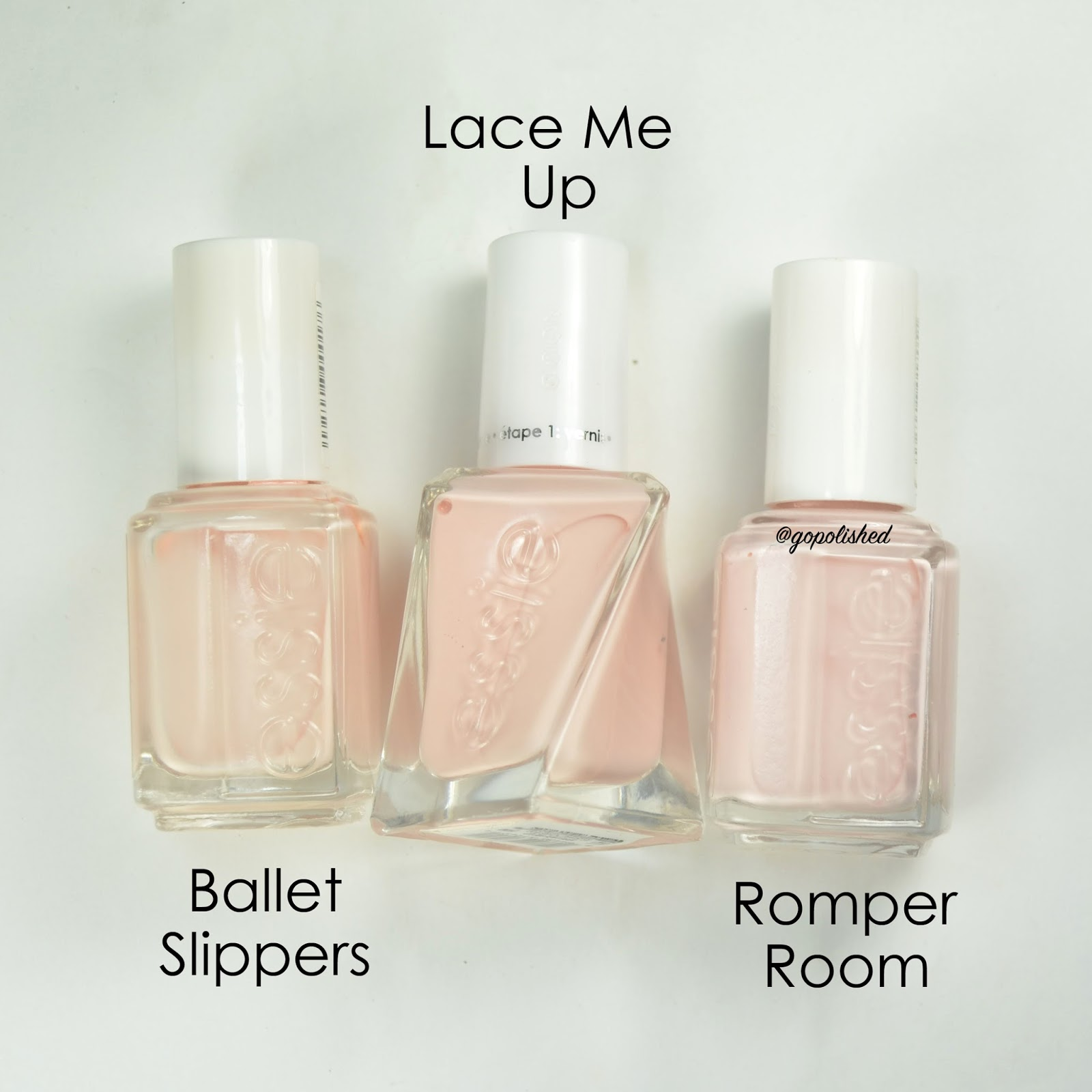 Go Polished Essie Ballet Nudes Collection Comparisons