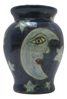 TRutH, Moons and Stars Mexican Art Pottery Vase