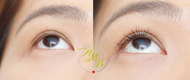 before and after photo after using Measurable Difference Lash Amplifying Mascara & Primer