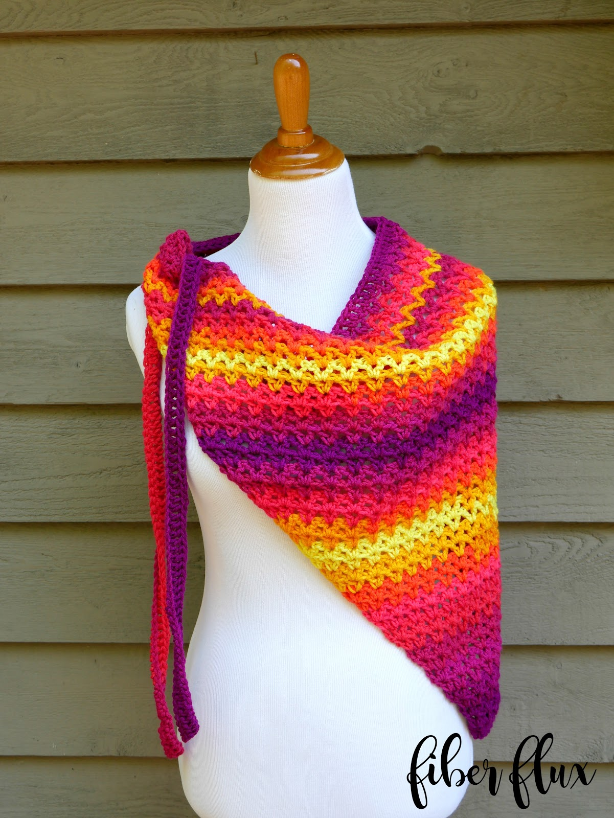 Free Crochet Pattern For Beach Wrap : Fiber Flux: Free Crochet Pattern...Tutti Frutti Beach Wrap!